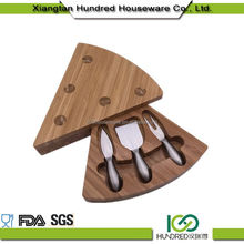 Custom Welcome Wholesales wooden cheese board with knife