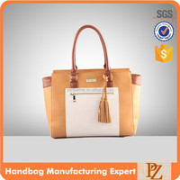 4603-2016 Designer pu leather tassel hand bags tote bags wholesale