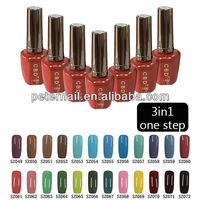 CBD12ml 3in1 one step color soak off nail gel color art uv led gel nail art gel nail polish color 1-24