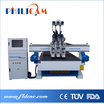 2016 hot sale philicam lifan wood engraving multi spindle cnc router 1325