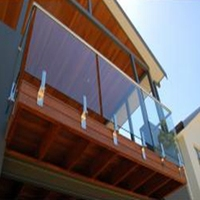 stainless steel railing pillar with glass