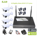 RTS 1080P 2.0MP H.264 4ch poe nvr kit outdoor 2mp Waterproof IP66 CCTV System 1080P HD Wireless WIFI NVR KIT