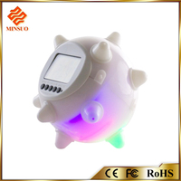 Digital led Color Change Desktop Wall Jumping Alarm Clock with Temperature