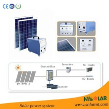 Cost-effective rechargeable high powerful small solar panel system