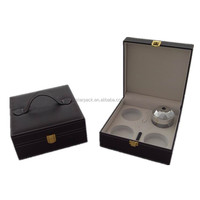 Stitched Leather Handle Bath Salt Gift Packing Box