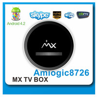AML8726-MX Dual Core 8GB Flash XBMC Android 4.2 Smart TV Box, Supporting XMBC and DLNA Functions, etc.