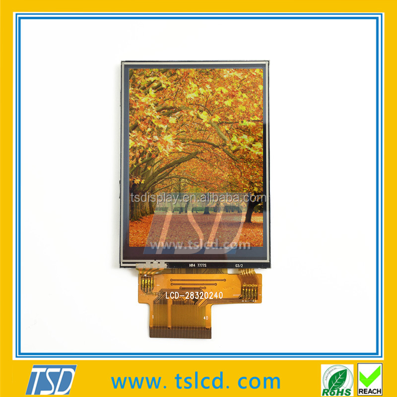 TFT lcd display 2.8 inch 240x320 dots QVGA with RTP