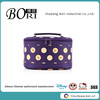 hard case cosmetic bag handing roand purple cosmetic bag promotional