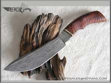 Custom Damascus Steel Hunting Knife Blanks With Rosewood Handle