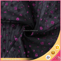 Best selling Fashion Glitter polyester air mesh fabric warp knit fabric