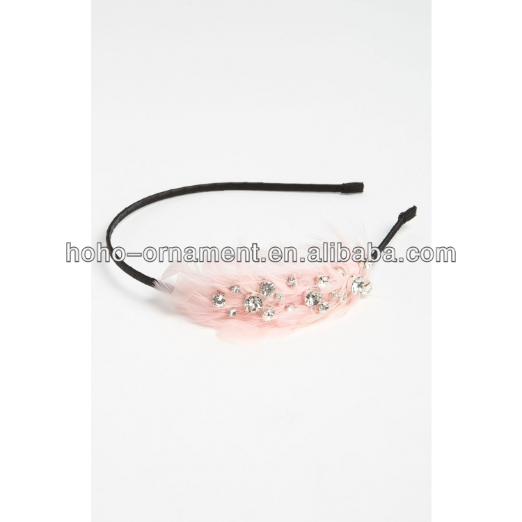 crystalline sparklers feather headband hairband hair accessory for ladies