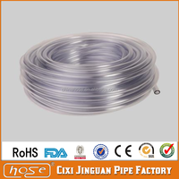 Cixi Jinguan Customized Size Thin Wall Non-toxic PVC Transparent Extrusion Liquid Delivery Water Cooling PVC Vinyl Tube Tubing