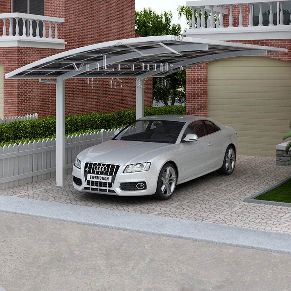 Car Accesories Portable Parking Shed Home Design Strong Aluminium Canopy Carport With Solid Polycarbonate Sheet