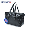 waterproof high qality pu leather tote travel bag for men