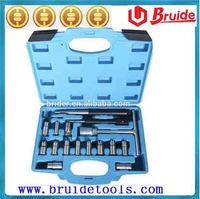 17PC Diesel Injector Seat Cutter Set Injector re-face tool For Automotive