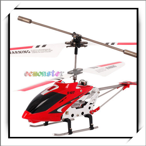 Cheap 3CH Infrared Remote Control Mini Metal RC Helicopter with Gyro RTF Red