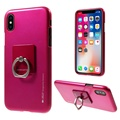 for iPhone X case back cover, Goospery Ring holder TPU case for iphone X