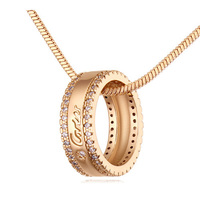 Allencoco necklace with happy Circle jewelry necklace for promotional From Factory price