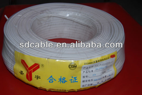 2 cores Parallel H03VVH2-F electrical wire