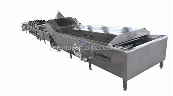 New type cleaning, blanching, sterilization, cooling and air drying machine