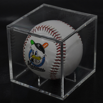 2018 Custom Acrylic Transparent Baseball Plastic Decoration Box/Baseball Gift Box