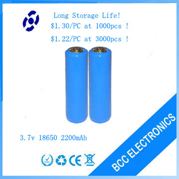 3.7v 2200mah rechargeable battery for shave
