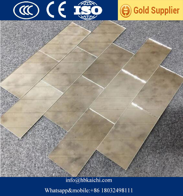 Antique beveled mirror glass backsplash tiles
