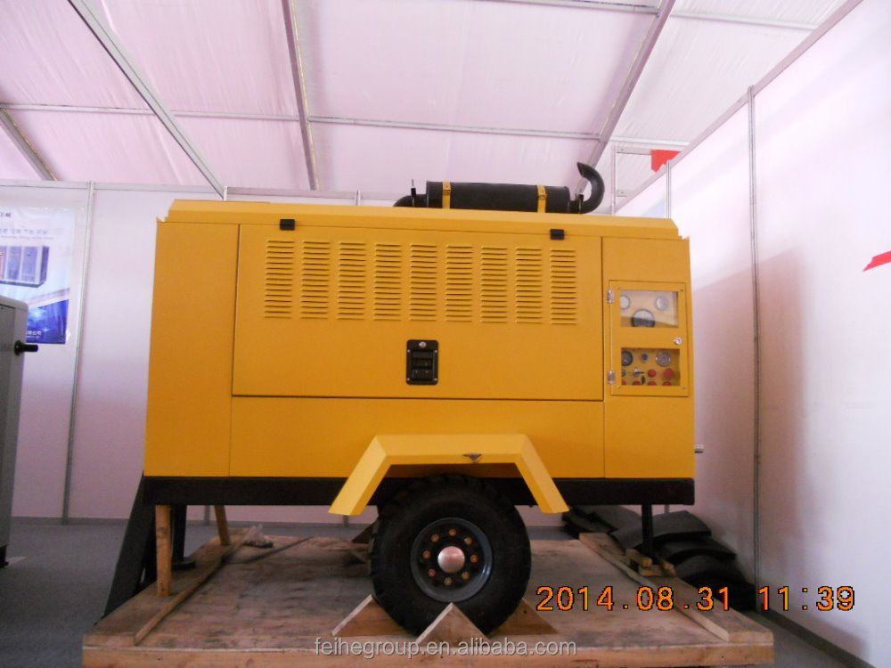 China shanghai factory price airman diesel portable air compressor/industrial air compressor/low noise air compressor