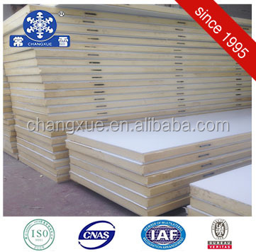 Changzhou cold room polyurethane color steel sandwich panel