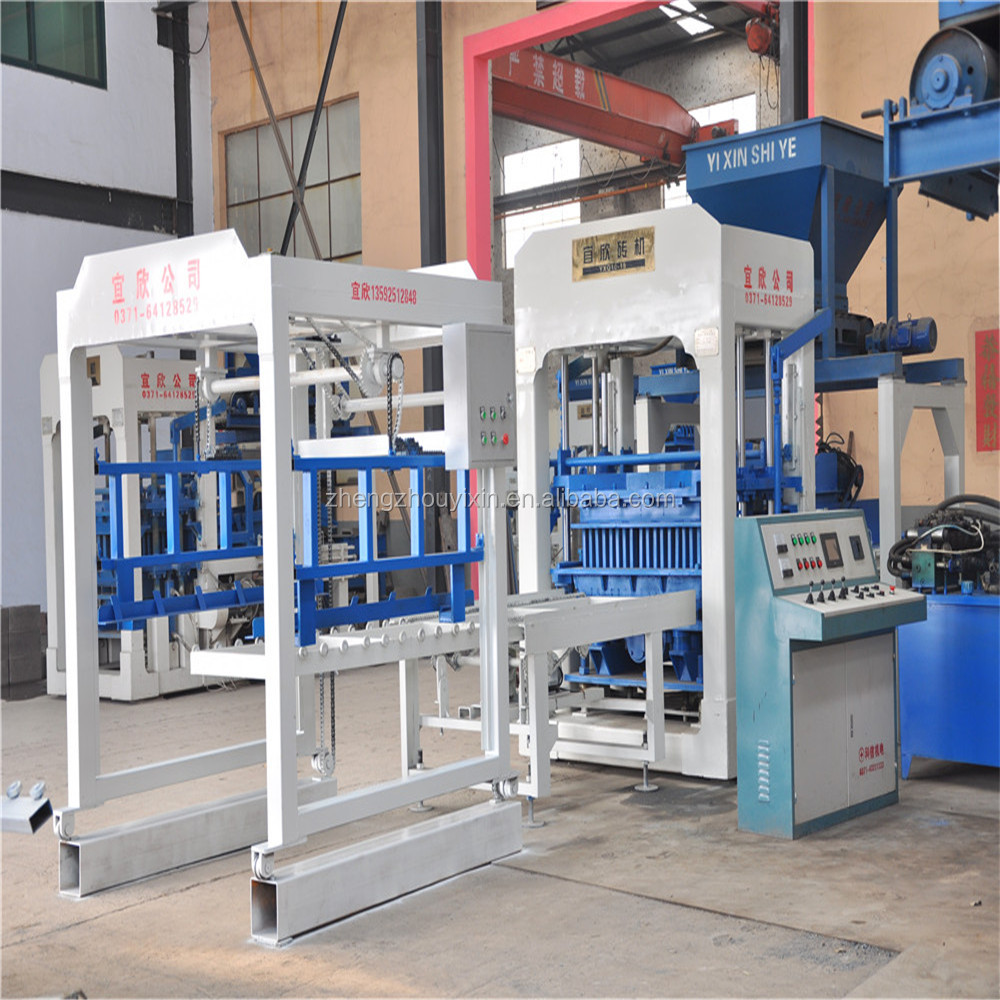 Yixin best-seller YXQ12-15 large Hydraulic Automatic Cement hollow Burning-free Block Making Machine