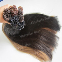 9A top grade silky straight virgin remy hair double drawn u tip hair extension