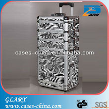 Aluminum trolley makeup case for hairdressing