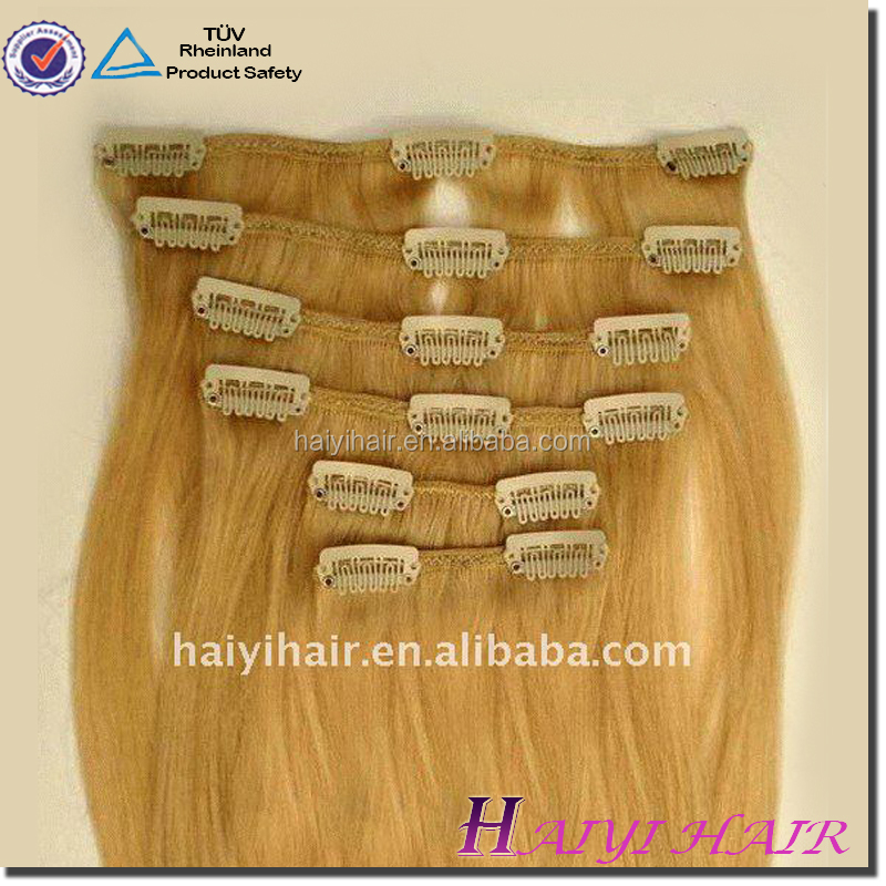 Private Label Superior Quality Grade 6A 7A 8A double drawn Unprocessed Wholesale Double Drawn non clip hair extensions