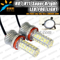 Car led Fog lamp daytime running right car led auto fog light for Universal Use H8 H9 H10 H11,9005,9006 led car light