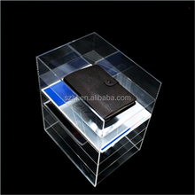 Promotional Wheel Leaflet 4 Tiers Acrylic A4 Brochure Holder Magazine Rack and Document Holder for Tabletops