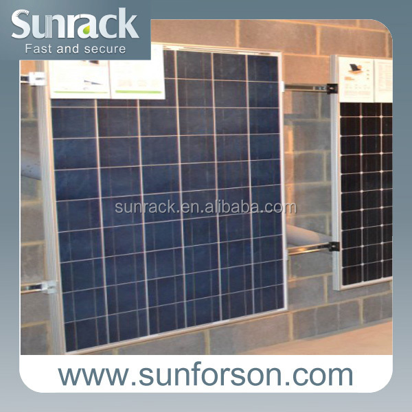 pv solar stand support solar wall mounting system array 1x16