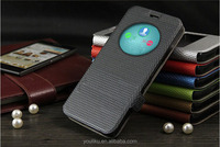 New arrival open call display window magnetic protected wallet style leather case for Zenfone5
