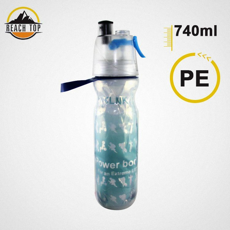 Hot Sale Customized according to customer logopop-top can plastic cans bottle PC squeeze sport bottle