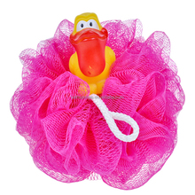 (BA-E-018) The Baby Shower Body Plastic Bath Loofah Mesh Sponge With Animal Toys