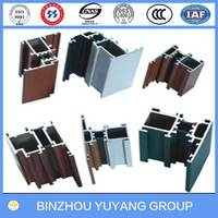 aluminum window hollow frame extruded section 6063
