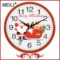 Home Party Decor Santa Claus Christmas Wall Clocks