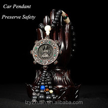 2016 New Design Eight Buddha Theme Chinese Traditional Antique Wood Carved Craft Item Of Car Pendant On Sale