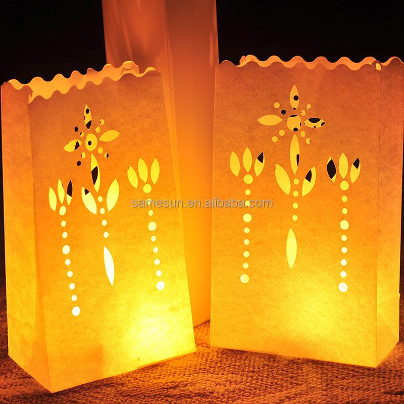 Luminaria vela bolsas de papel para decoraci n de la boda - Bolsas de papel para velas ...