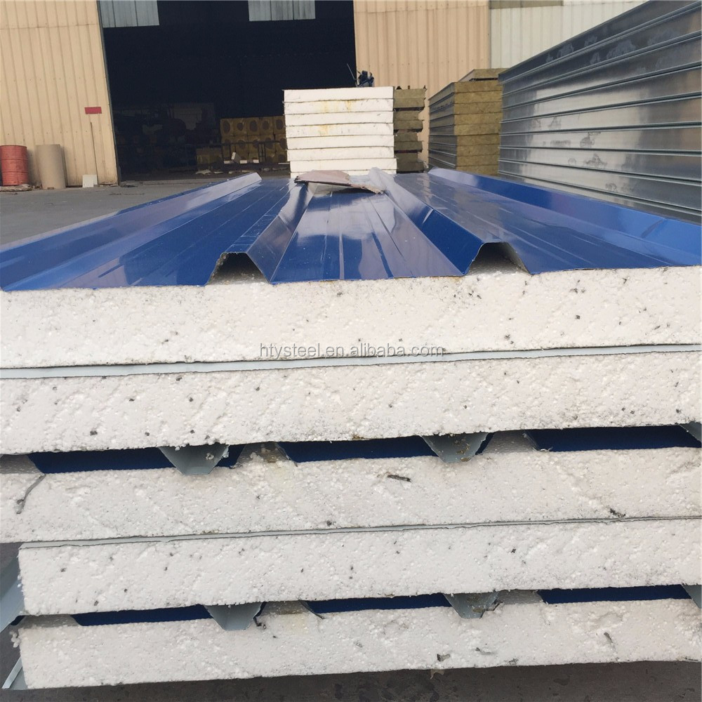 Building Material roof sandwich panel pu and eps sandwich panel from hengtaiye factory