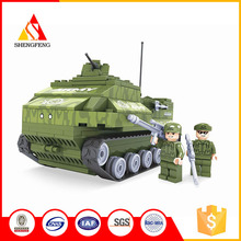 China supplier military building blocks big monster 3d model toy tank