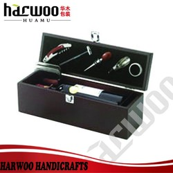 The retro style -- green color Wood wine gift box for wine bottle