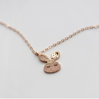 925 sterling silver plated rose gold rabbit necklace cute girl fine jewelry