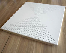 lay in perforated aluminum suspended ceiling panel metal ceiling tiles
