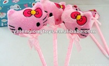 Factory price lovely and cheap hello kitty plush pen
