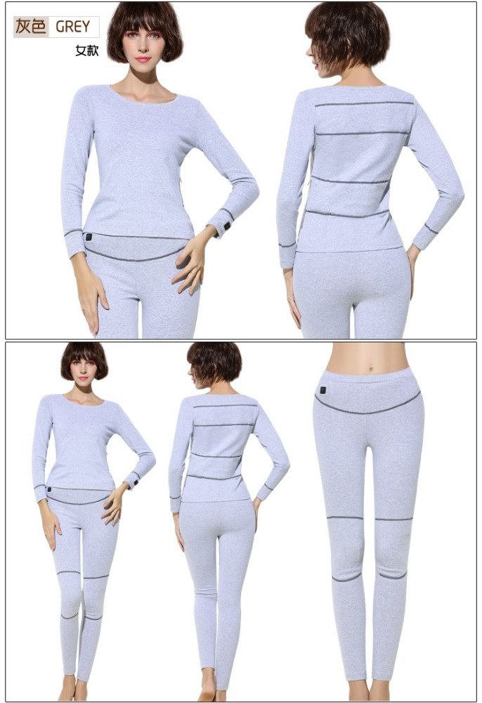 Hot Sell Custom Thermal Electrical Sexy Women Ski Long Johns Heated Underwear for Women